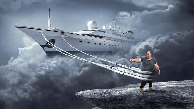 Fantasy, Ship, Clouds, Composing, Port, Dream, Travel