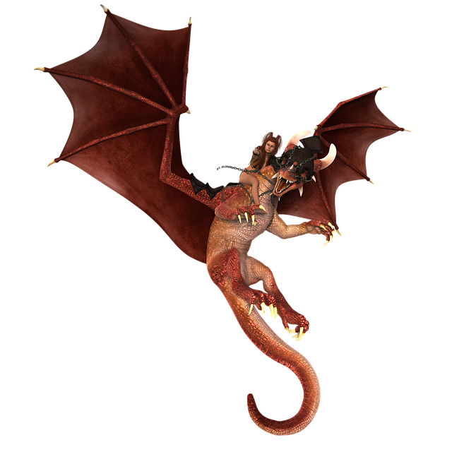 Woman, Dragon, Mythical Creatures, Fantasy, Fairy Tale