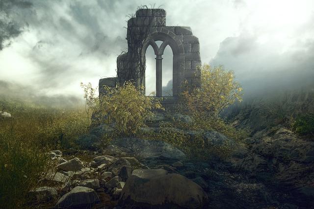 Fantasy, Landscape, Fantasy Landscape, Nature, Ruins