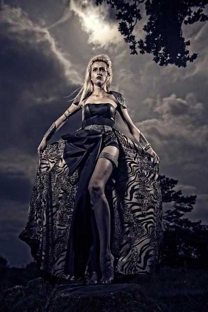 Warrior, Fashion, Fantasy, Dress, Sky, Woman, Fierce