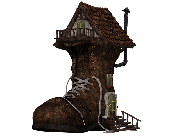Shoe, Boots, House, Boots House, Fantasy, Fairy Tales