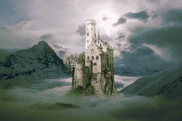 Landscape, Fantasy, Fantasy Landscape, Castle, Sky