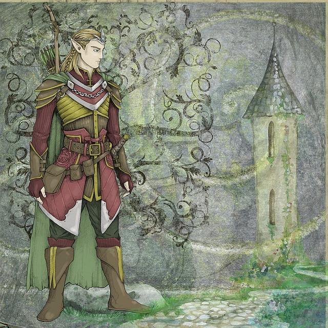 Fantasy, Fairytale, Elve, Man, Owl, Wanderer, Kingdom