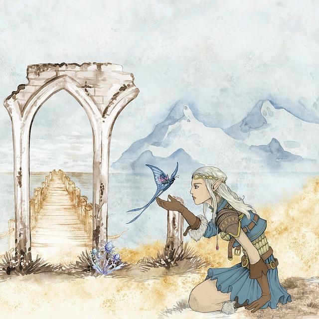 Fantasy, Fairytale, Elve, Girl, Owl, Kingdom, Moon