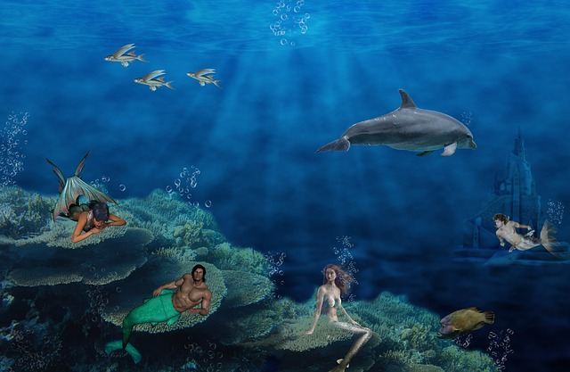 Mermaid, Fantasy, Mystical, Siren, Swim