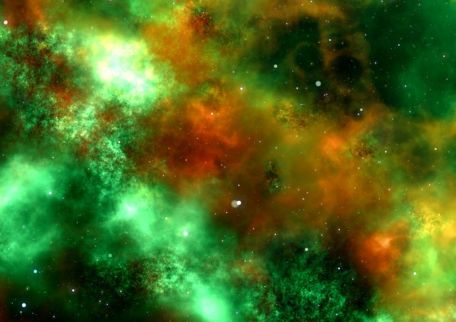 Space, Science Fiction, Cosmos, Blue, Fantasy, Cluster
