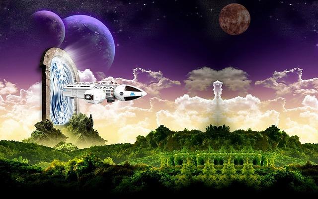 Fantasy, Stargate, Spaceship, Science Fiction
