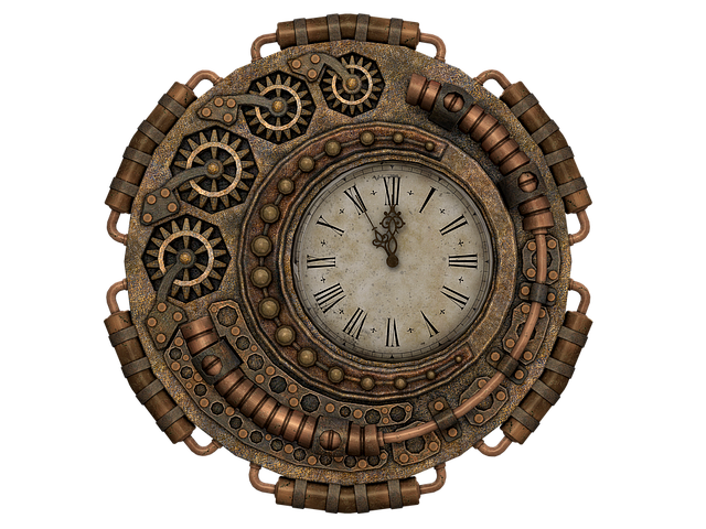 Clock, Time, Time Of, Fantasy, Steampunk, Isolated