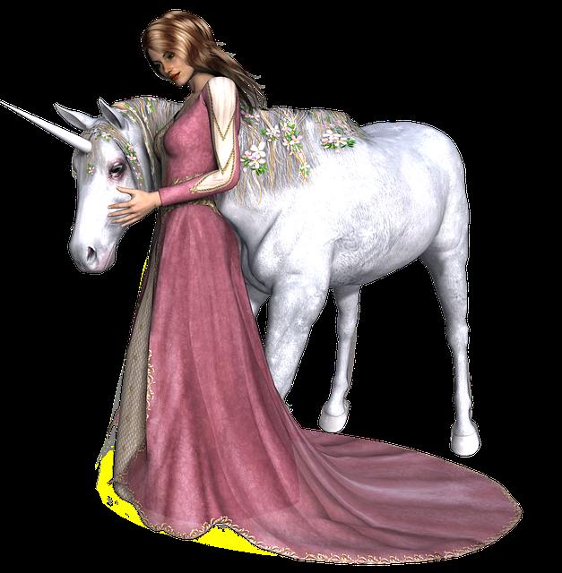 Unicorn, Fantasy, Fairy, Girl, Tale, White, Mythology