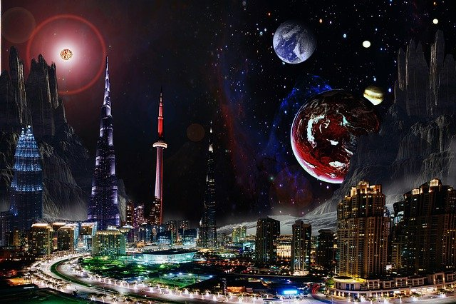 Fantasy, Space, Planets, Universe, Galaxy, Sky, Cosmos