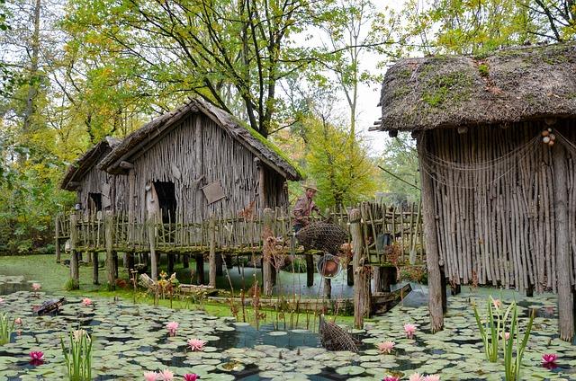 Fantasy, Fisherman, Hut, Village, Man, Swamp, Water