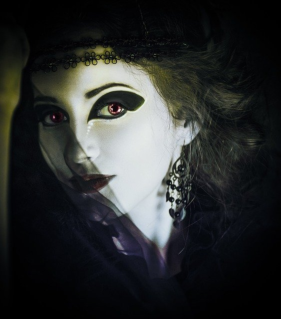 Woman, Gothic, Dark, Horror, Fantasy, Girl, Person