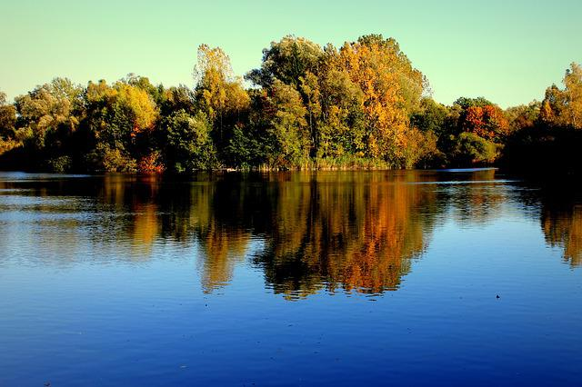 Lake, Autumn, Water, Trees, Forest, Farbenspiel