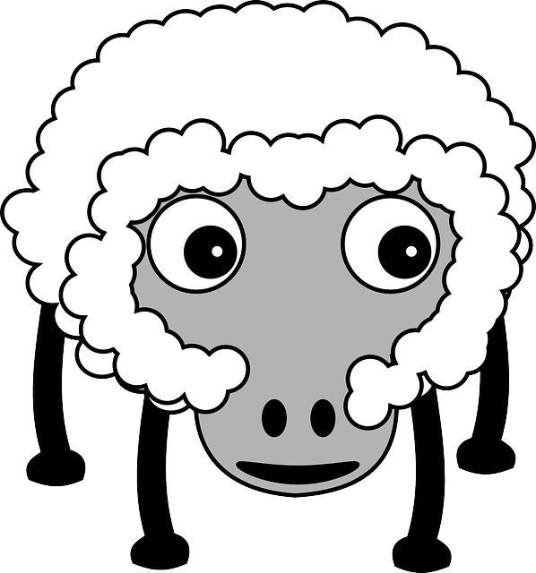 Sheep, Fluffy, Farm, Farm Animal, White, Funny, Cartoon