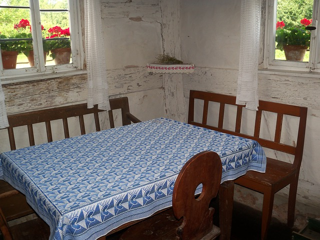 Farmhouse, Table, Chair, Old Farmhouse, Farm Museum
