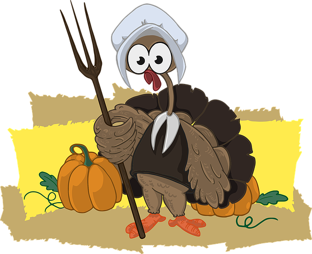 Turkey, Farmer, Animal, Character, Bird, Pumpkin