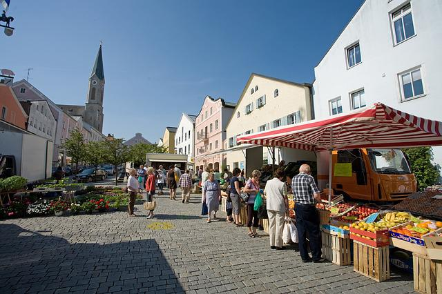 Marketplace, Waldkirchen, Farmers Local Market