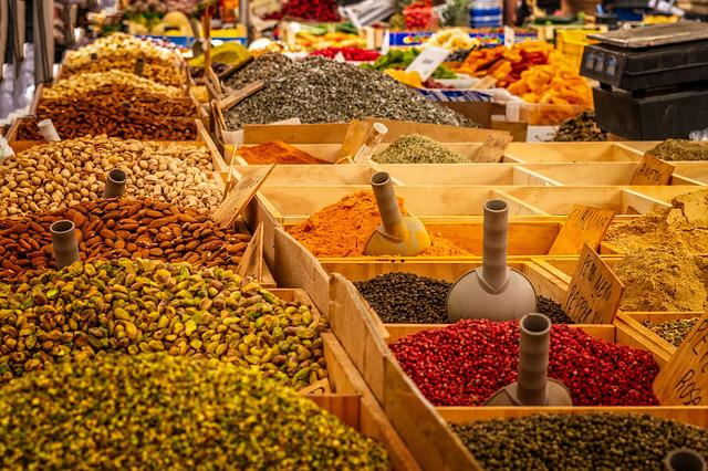 Market, Stand, Spices, Food, Farmers Market