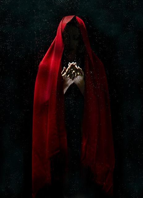 Model, Red, Dark, Fashion, Black, Fine Arts, Fiction