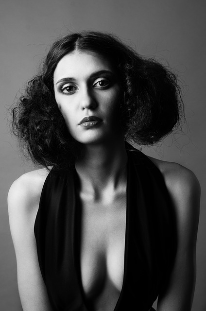 Fashion, Girl, Sexy, Women, Black, White, Model