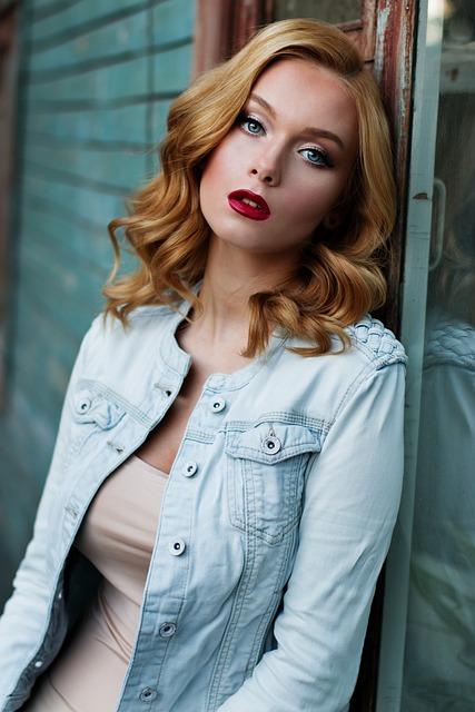 Woman, Model, Portrait, Denim Jacket, Fashion, Style