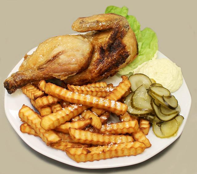 Fast Food, Chicken, French Fries, Food, Fried Chicken