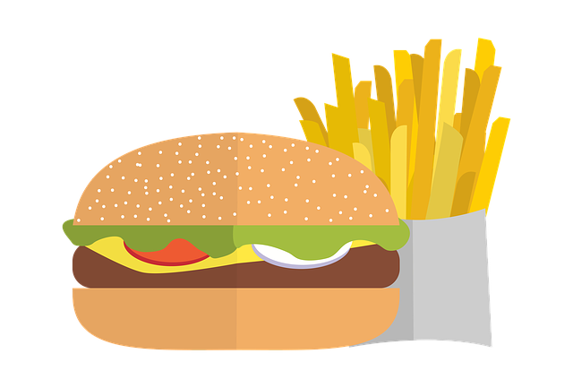 Pommes, Chips, Burger, Fastfood, Cheese, Beef, Food