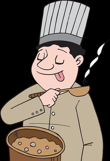 Myanmar, Burma, Chef, Fat, Taste, Lick, Spoon, Cook