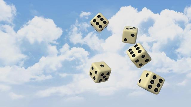 Cube, Fate, Luck, Sky, 3d, Blender