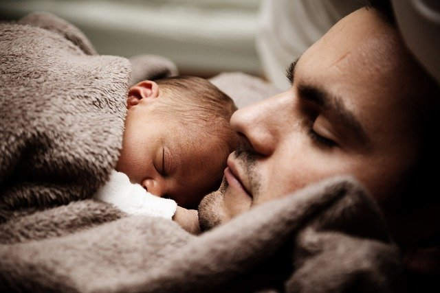 Father, Baby, Portrait, Infant, Newborn, Child, Dad