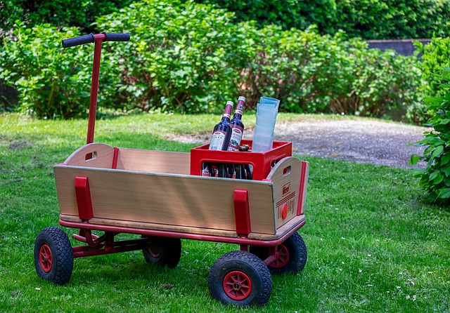 Stroller, Handcart, Wood Car, Father's Day, Hiking
