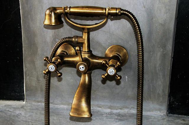 Faucet, No One, Old, Brass, Very Old, Metal, Stylish