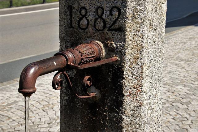 Faucet, Rust, Old, Waterworks, Drains, Water, Metal