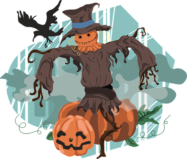 Scarecrow, Halloween, Pumpkin, Crow, Hat, Horror, Fear