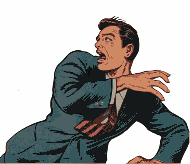Comic, Fear, Flee, Fright, Game Asset Call, Horror, Man