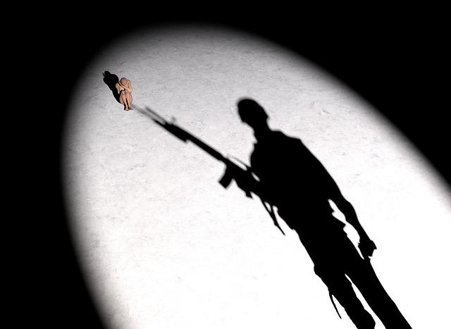 Soldier, Woman, Silhouette, War, Threat, Fear, Risk