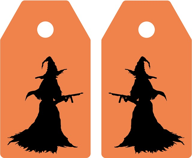 Ticket, Tag, Halloween, Map, Greeting, Witch, Feast