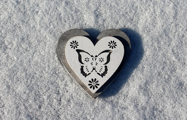 Heart, Snow, Heart On The Snow, February, Love
