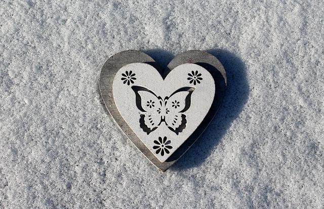 Heart, Snow, Heart On The Snow, February, Love