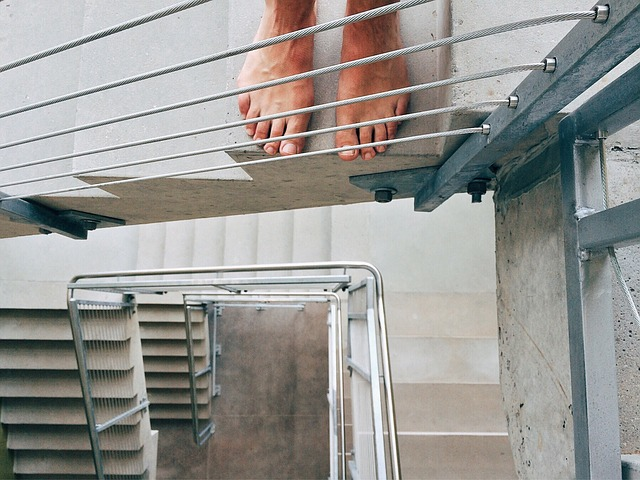 Stairs, Stairwell, Staircase, Feet