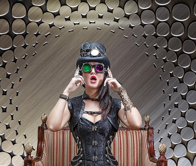 Steampunk, Beautiful Girl, Model, Cosplay, Felt Hat