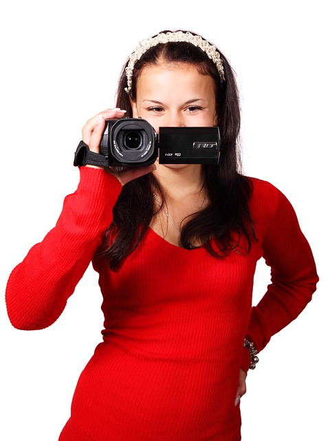 Camcorder, Camera, Digital, Equipment, Female, Girl
