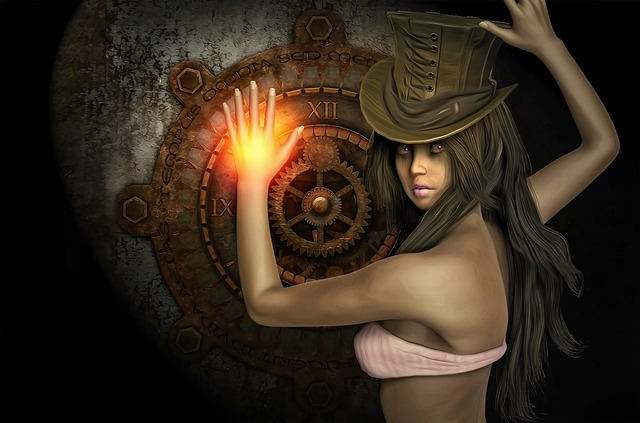Steampunk, Female, Girl, Fantasy Girl, Fantasy
