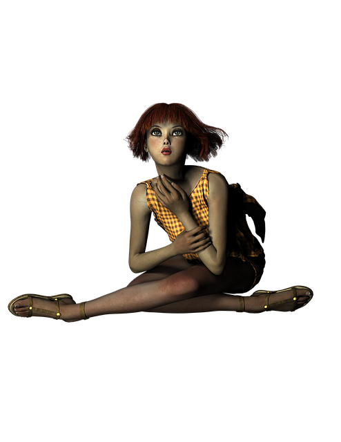 Girl, Redhead, Fantasy, Autumn, Orange, Young, Female