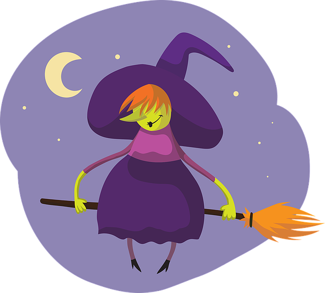 Witch, Broom, Halloween, Hat, Female, Character