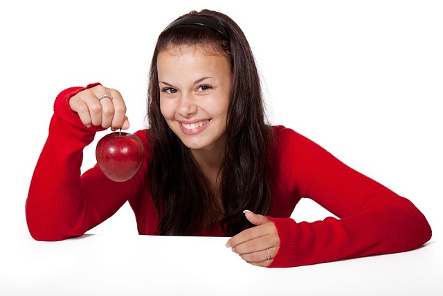 Apple, Cute, Diet, Female, Food, Fruit, Girl, Healthy