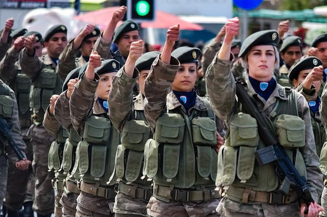 Military, Army, People, Woman, Soldier, Parade, Female