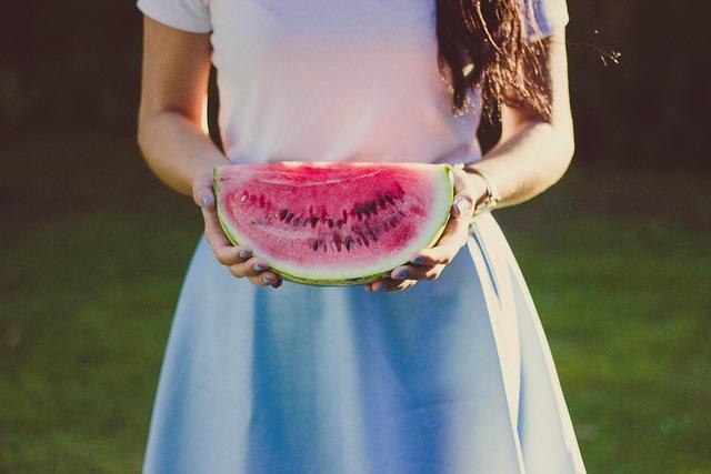 Female, Fruit, Hands, Person, Watermelon