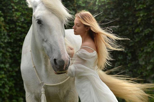 Woman, Horse, Magical, Daydream, Lady, Female, Portrait