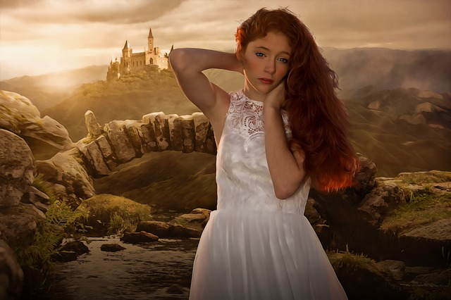 Woman, Female, Beauty, Long Hair, Red Hair, Portrait